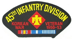 45th Infantry Division Korean War Veteran Patches